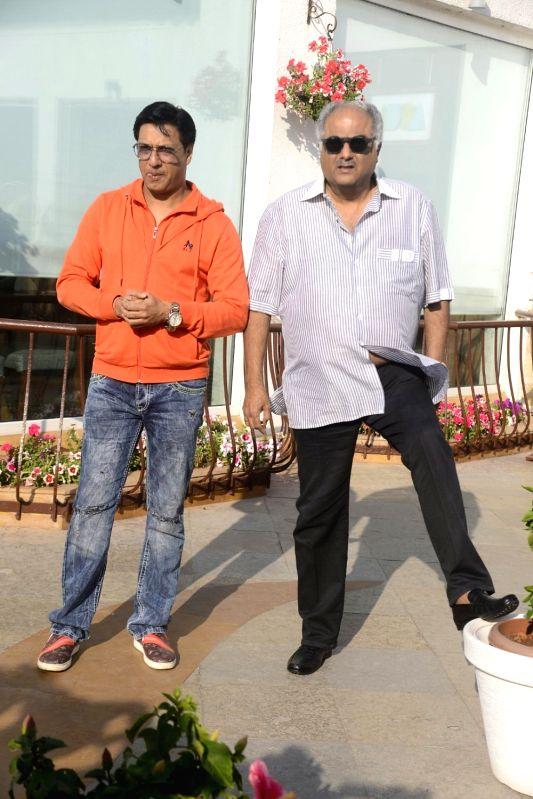 Yash Chopra memorial award jury members - filmmaker Boney Kapoor and director Madhur Bhandarkar arrive to attend a press conference to announce the winner of the prestigious award in Mumbai ... - Madhur Bhandarkar, Asha Bhosle, Yash Chopra and Kapoor
