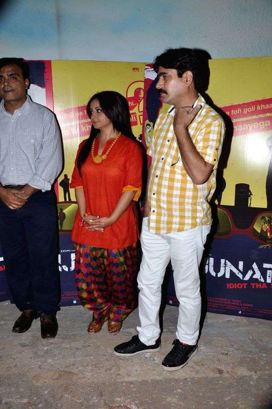 Yashpal Sharma, Sandeep Varma, Divya Dutta at the Screening of film Manjunath in Mumbai on 6th May 2014. - Yashpal Sharma