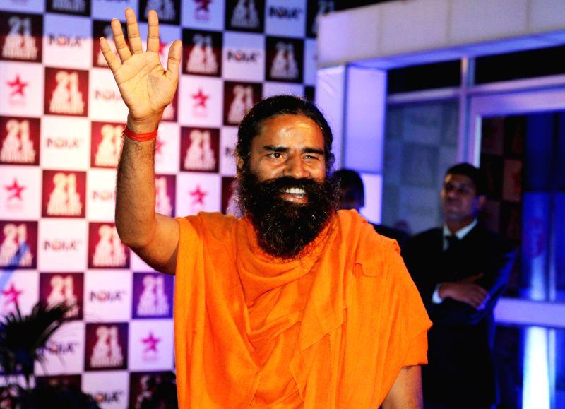 Yoga guru Baba Ramdev during Aap Ki Adalat's 21st anniversary celebrations in New Delhi on Dec 2, 2014.