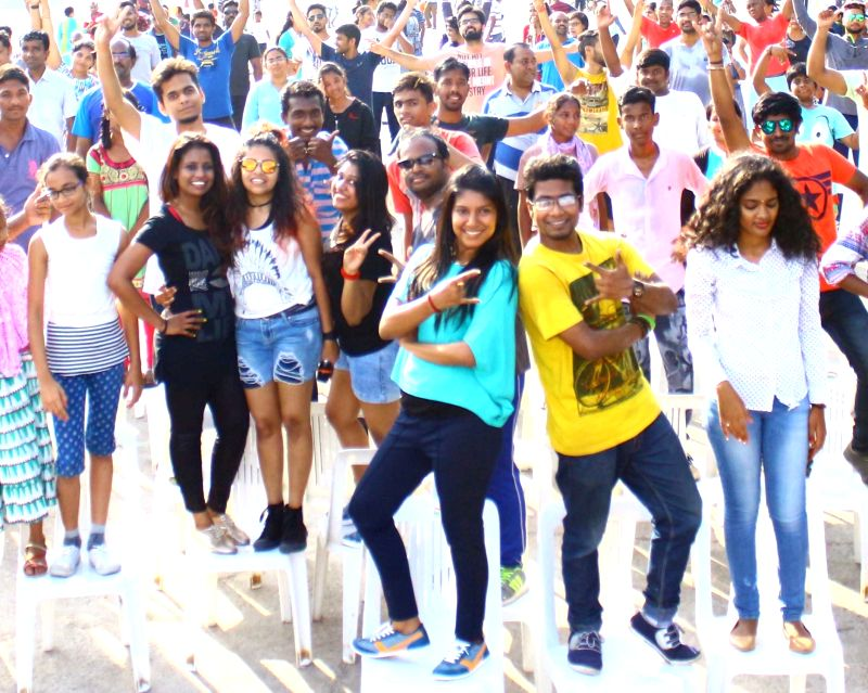 Youths participate in the Physical Literacy Day celebrations in Hyderabad on Sept 10, 2017.