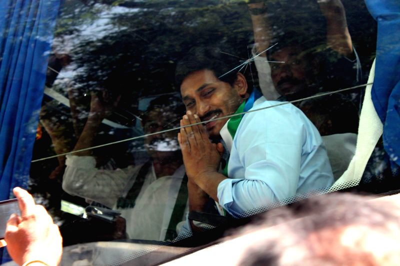 YSR Congress chief and opposition leader in Andhra Padesh Assembly YS Jaganmohan Reddy arrives to attend the first session of Andhra Pradesh Assembly in Hyderabad on June 19, 2014. - Jaganmohan Reddy