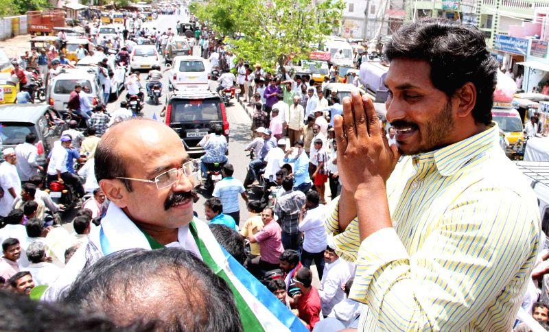 YSR Congress president YS Jaganmohan Reddy during a rally in Anantapur district of Andhra Pradesh on May 5, 2014. - Jaganmohan Reddy