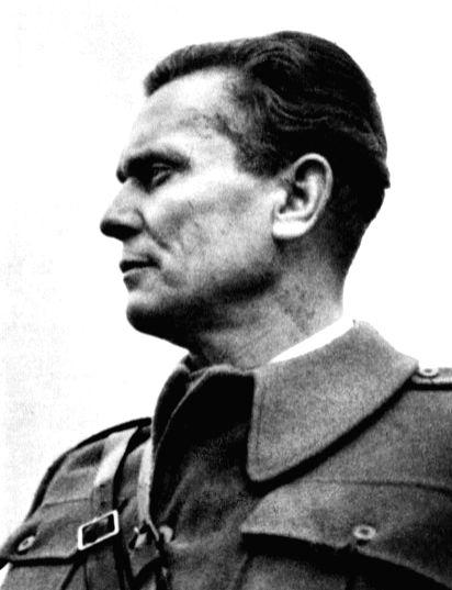 Yugoslav leader Josip Broz Tito during World War II