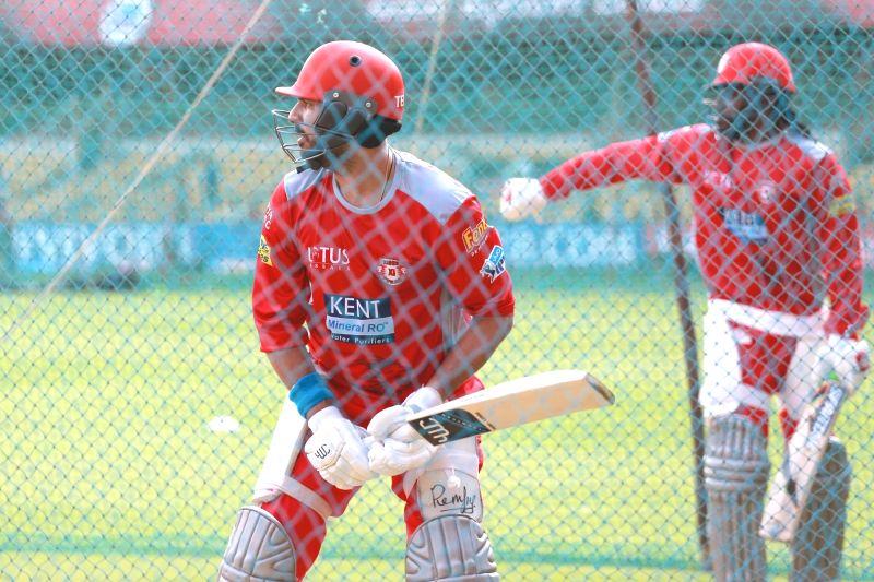 Yuvraj Singh of Kings XI Punjab during a practice session at M. Chinnaswamy Stadium in Bengaluru on April 12, 2018. - Yuvraj Singh
