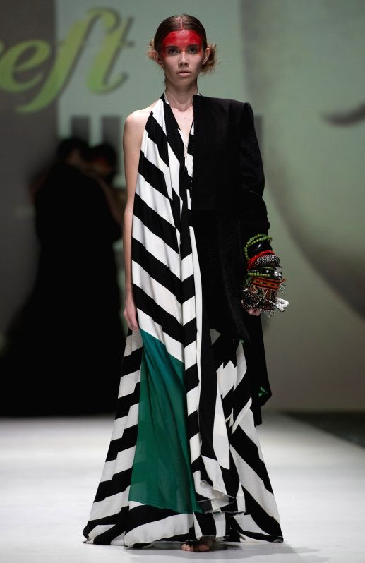 A model presents a creation of Zjena Glamocanin on the final night of 2014/2015 Autumn-Winter Zagreb fashion week in Zagreb, capital of Croatia, May 9, 2014. The ...