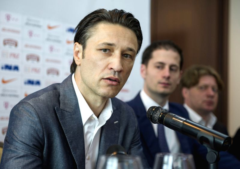Croatian national football team coach Niko Kovac talks during a press conference in Zagreb, Croatia, May 14, 2014. Kovac revealed the list of players for the World Cup