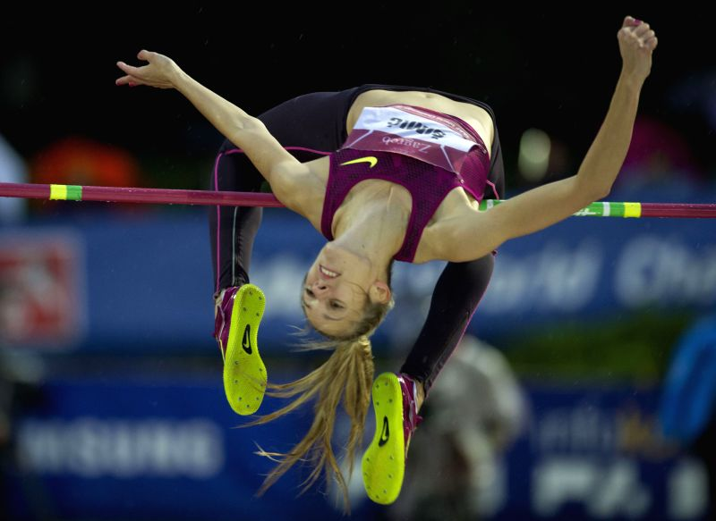 Ana Simic of Croatia competes during the women's high jump final at the IAAF World Challenge Zagreb 2014 in Zagreb, capital of Croatia, on Sept. 2, 2014. Ana Simic ..