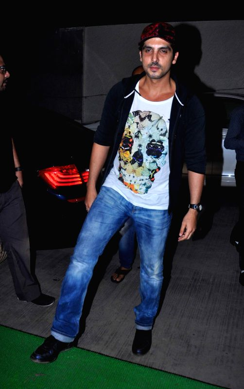 Zayed Khan during the special screening of film Humshakal at Lightbox in Mumbai on Thursday, June 19, 2014. - Zayed Khan