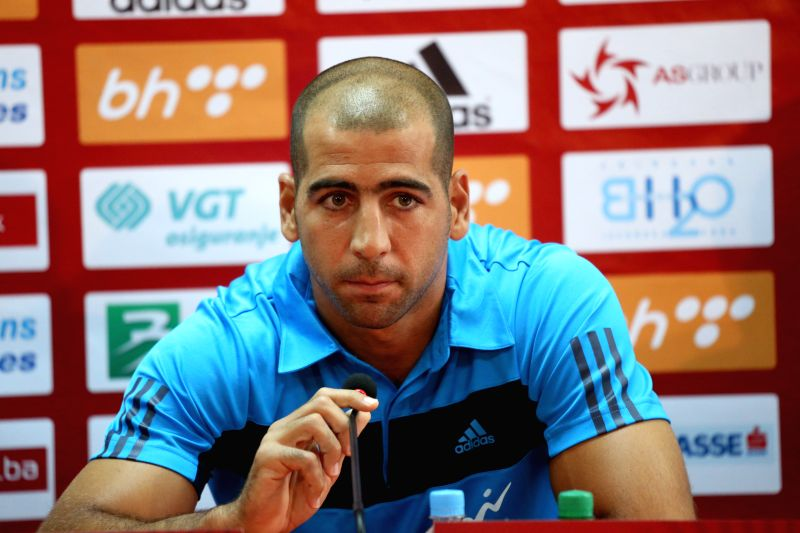 Ben Haim of Israeli national team attends a press conference at the stadium Bilino Polje in Zenica, Bosnia and Herzegovina (BiH), on June 11, 2015. National soccer ...