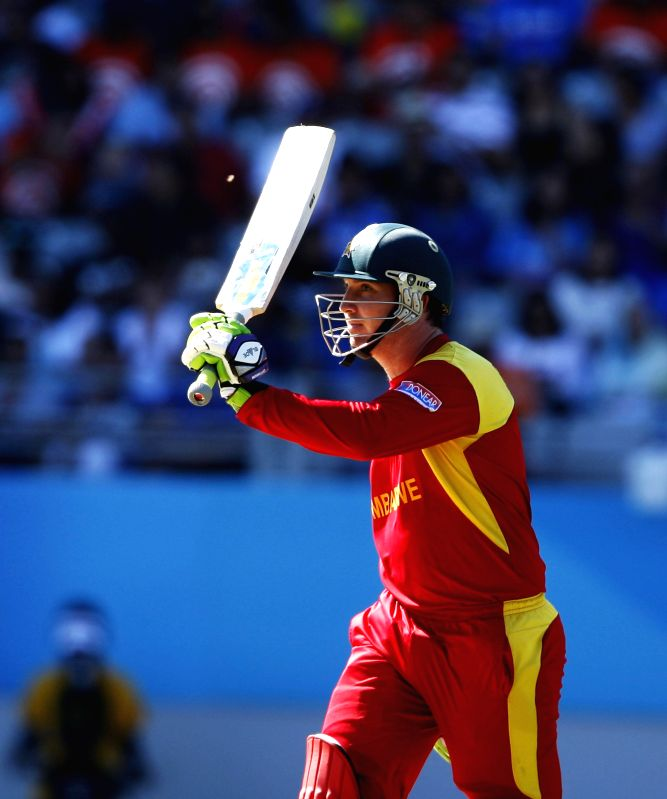 Zimbabwean cricketer Brendan Taylor during an ICC World Cup 2015 match between India and Zimbabwe at the Eden Park in Auckland, New Zealand on March 14, 2015.