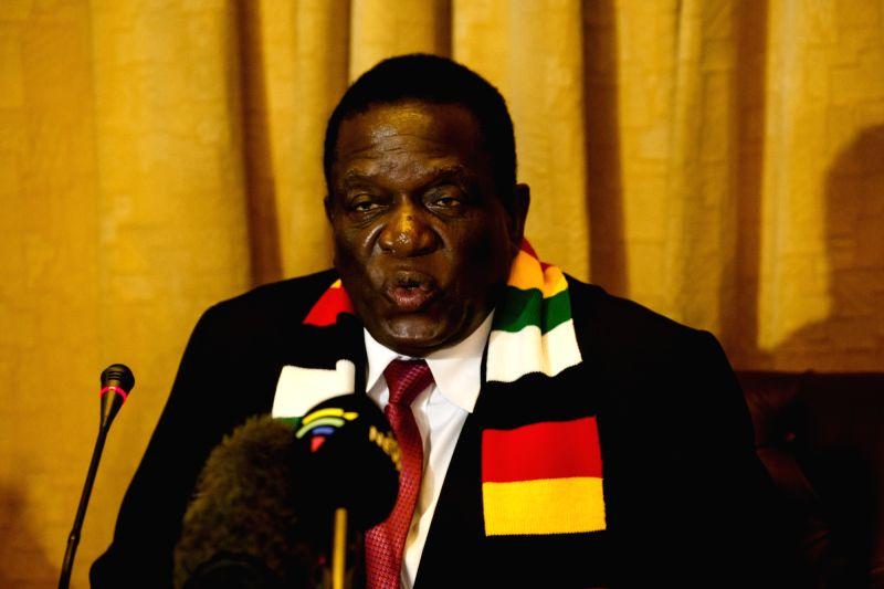 Zimbabwean President Emmerson Mnangagwa. (Xinhua/Shaun Jusa/IANS)