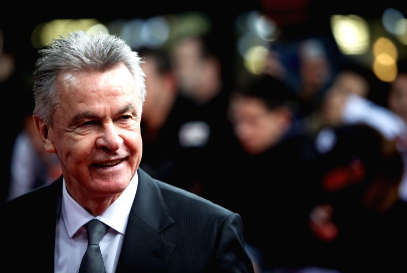 Ottmar Hitzfeld of Switzerland arrives on the red carpet ahead of the 2014 FIFA Ballon d`Or award ceremony in Zurich, Switzerland, Jan. 12, 2015. (Xinhua/Zhang ...