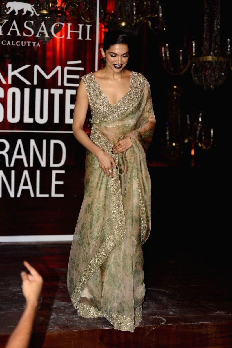 Actress Deepika Padukone the Lakme Fashion Week Winter Festive 2016, in Mumbai on Aug 28, 2016.
