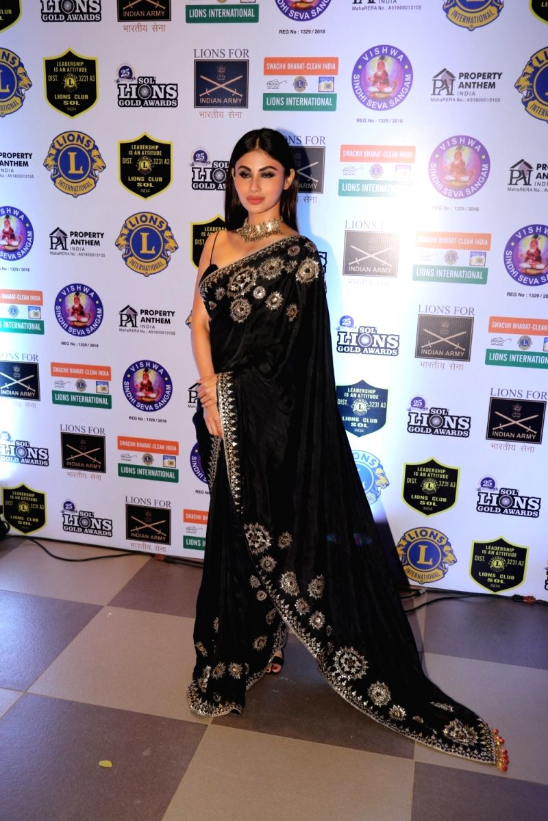 Actress Mouni Roy at the 'Lions Gold Awards 2019' in Mumbai, on Jan 17, 2019.