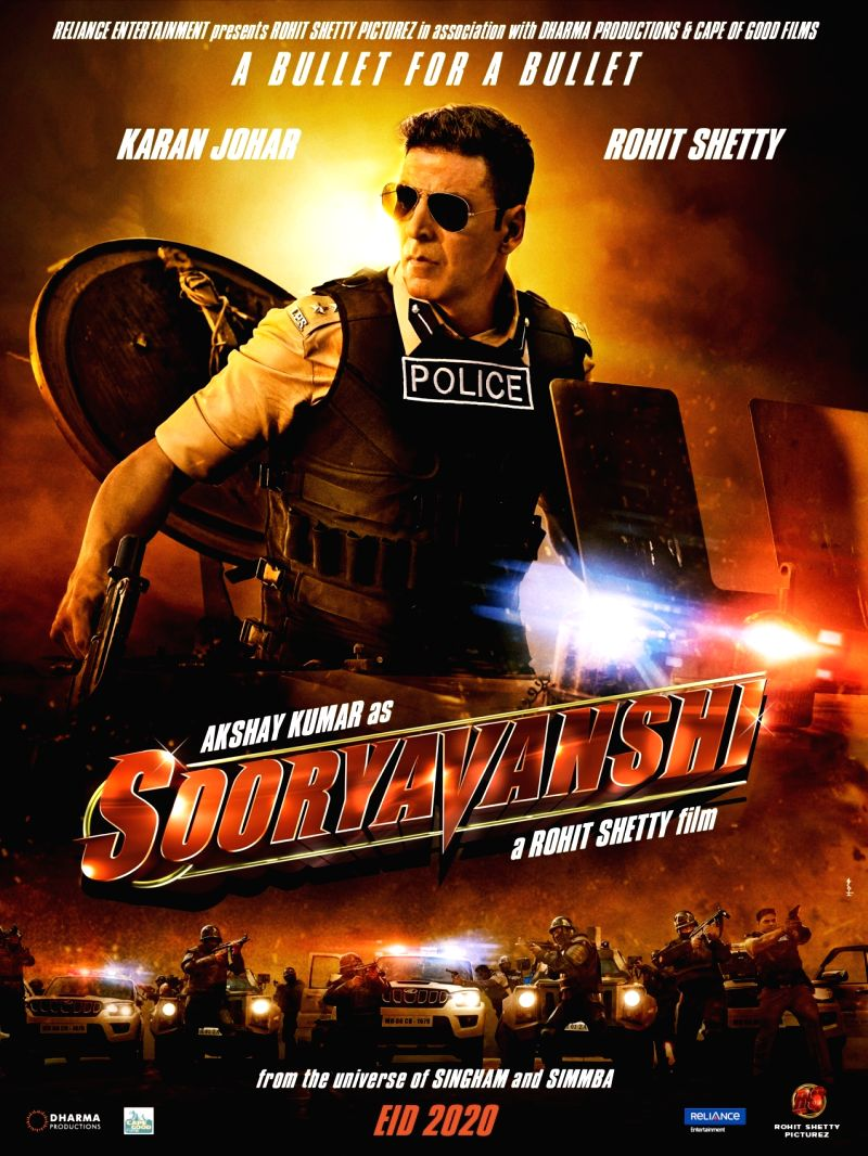 "Akshay Kumar in upcoming film ""Sooryavanshi"" ."