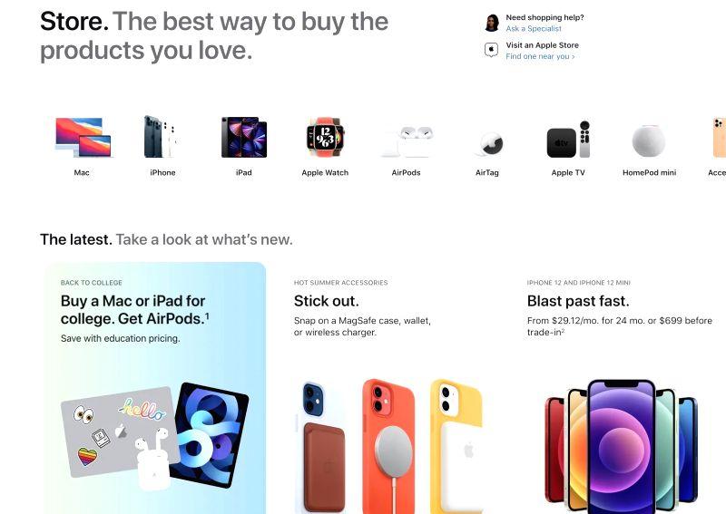 Apple rejigs its online store before mega launches.