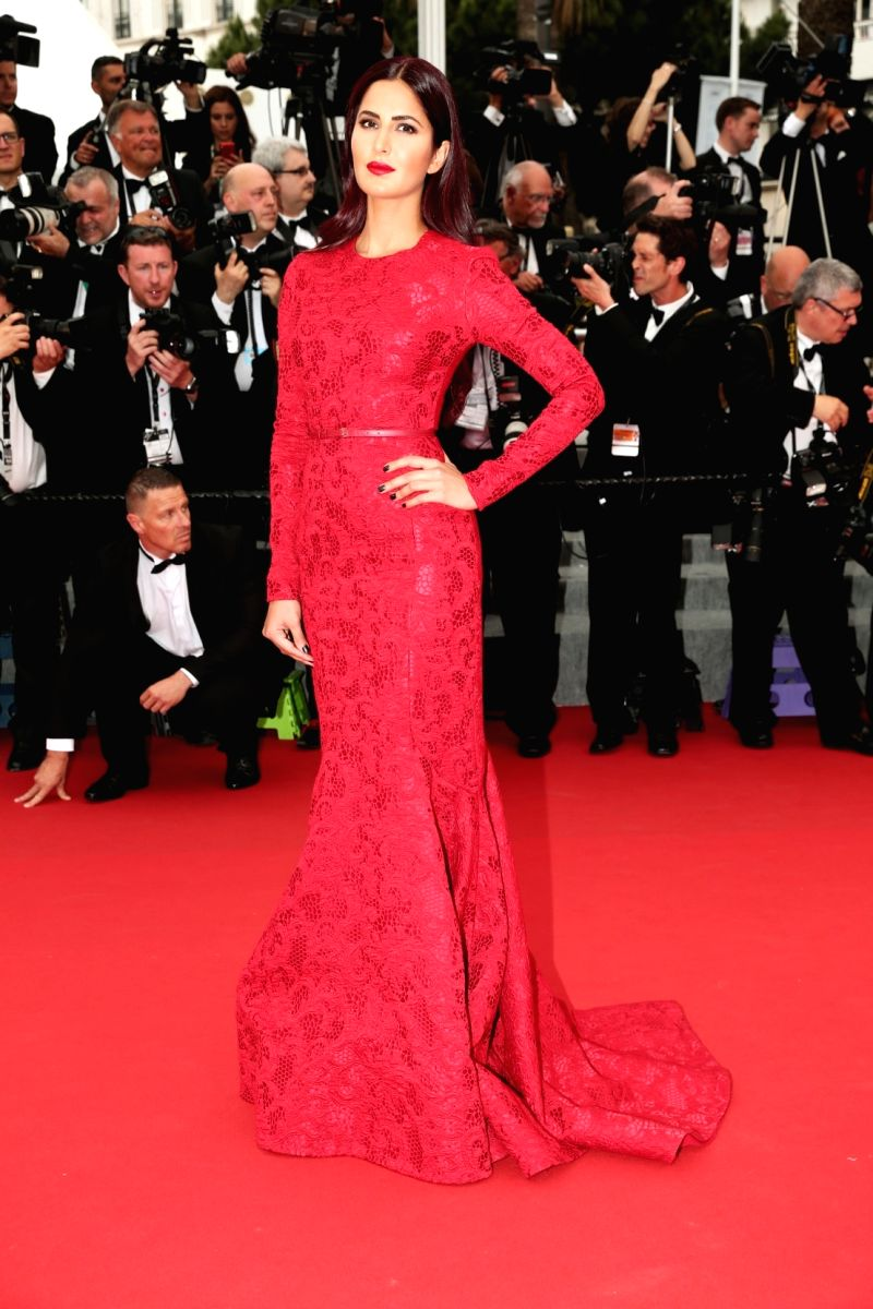Actresses Katrina Kaif at the 68th Cannes Film Festival 2015 in France on May 14, 2015.