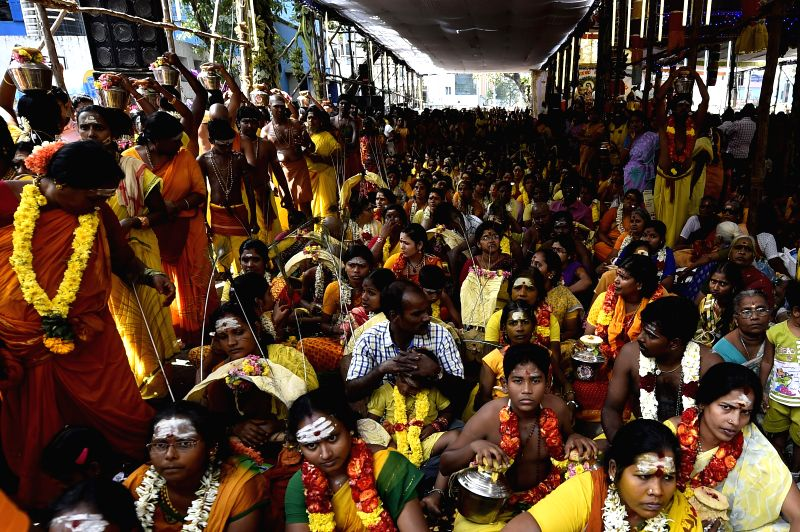 Devotees of Lord Muruga during the Thaipusam festival in Chennai on Feb. 3, 2015.