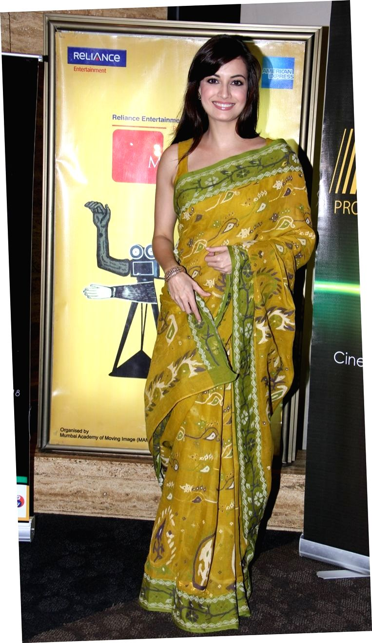 Dia Mirza at the screening of Paanch Adhyay at 14th MFF in Mumbai.