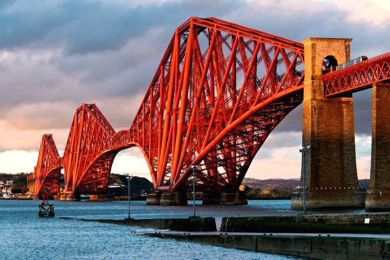 File photo provided by Historic Scotland shows the Forth Bridge in Scotland, northern Britain. The world-famous bridge was officially inscribed as a United Nations ...