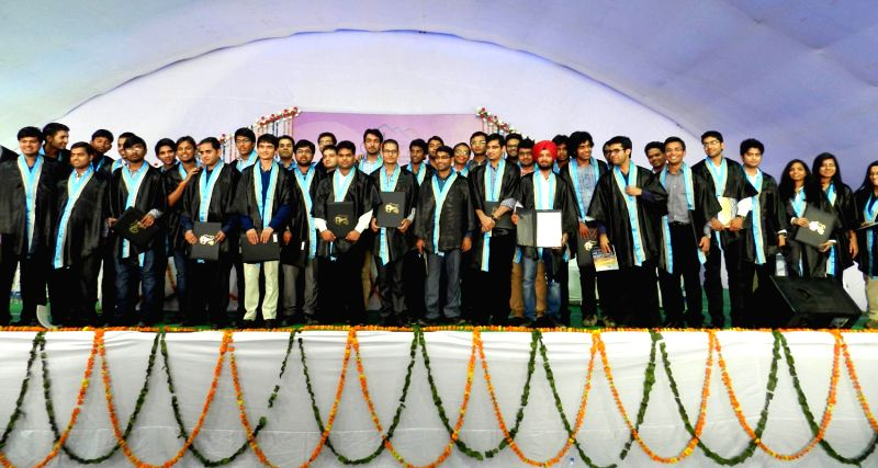 First batch of students with their degrees during the first convocation at IIT Kamand in Mandi on Oct.20, 2013.