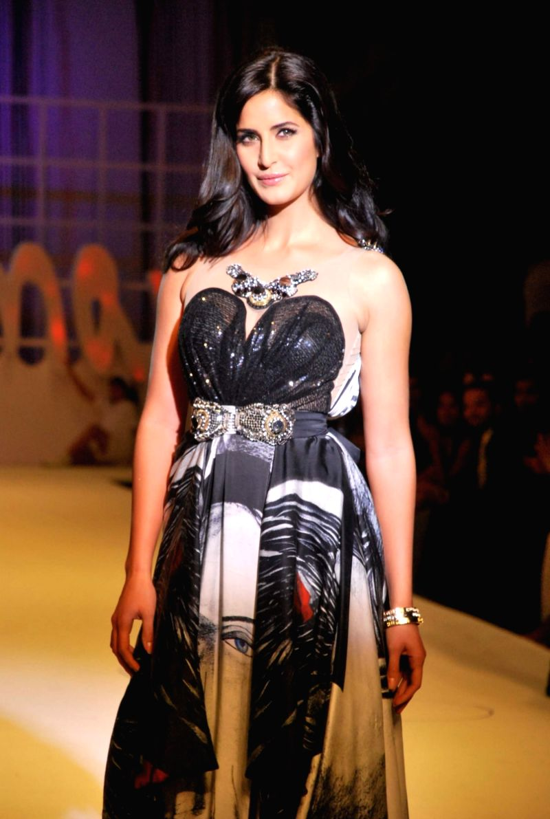 Katrina Kaif at Salman Khan's Being Human show at HDIL India Couture Week on Day 2.