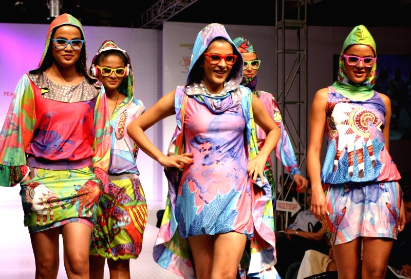 The fashion show by new graduate designers from Pearl Academy of Fashion,in New Delhi.