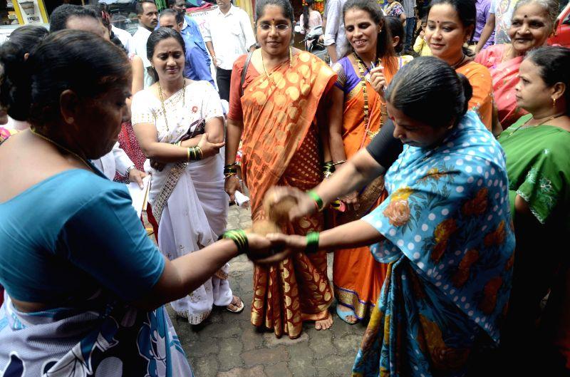 Women celebrate Narali Purnima