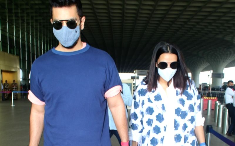 : Angad Bedi & Neha Dhupia Spotted At Airport Departure