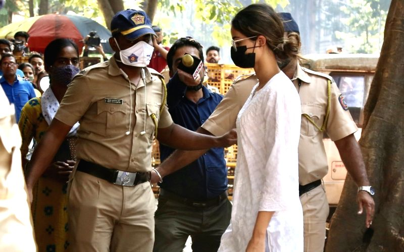: Mumbai:Bollywood Actress Ananya Pandey arrives at the Narcotics Control Bureau(NCB) office