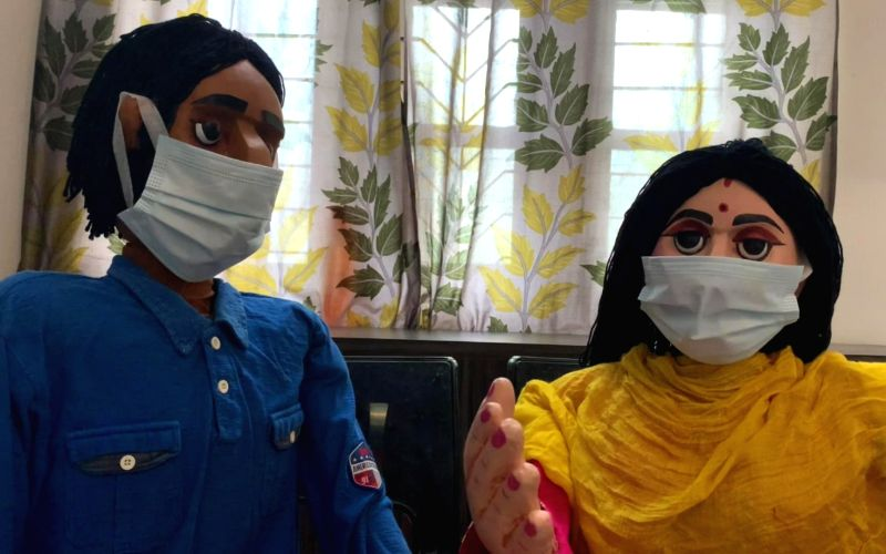 Covid awareness campaign through puppetry in NE India