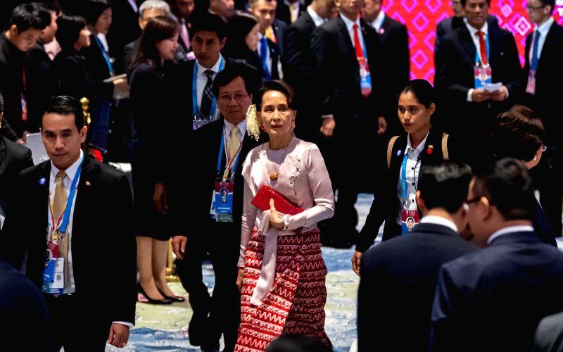 Suu Kyi appears in court via video link