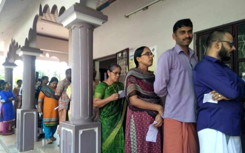 Kerala registers 22.24% voting in 4 hours
