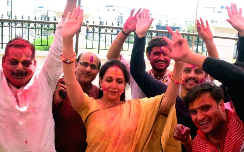 Election colours add to Holi fervour in Braj