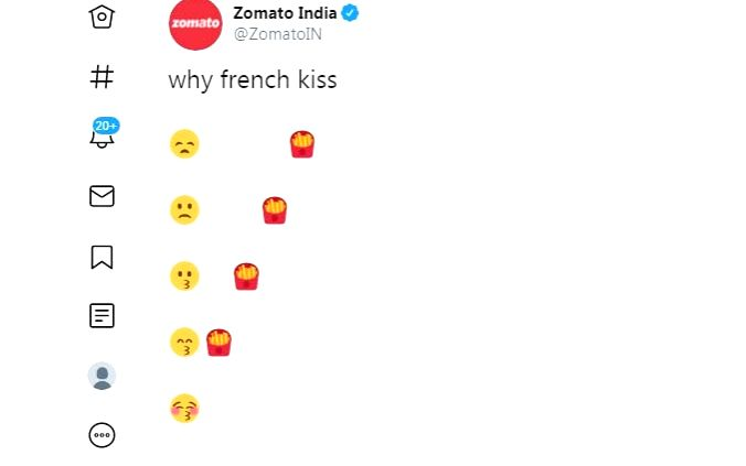 Zomato India post on kiss day leaves Netizens in splits