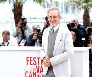 President of the Jury, U.S. director Steven Spielberg poses during the photocall of the Jury at the 66th annual Cannes Film Festival in Cannes, France, ...