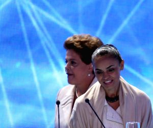 Brazil's President and presidential candidate of the Worker's Party at TV debate in Sao Paulo