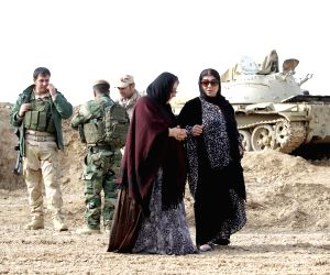 IRAQ KIRKUK PESHMERGA FRONTLINE DEFENCE