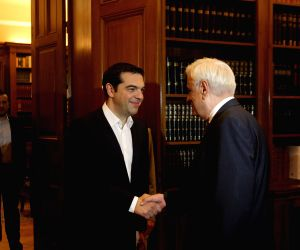 GREECE ATHENS DEBT CRISIS TSIPRAS PAVLOPOULOS MEETING