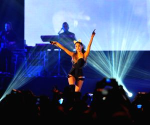 Ariana Grande turns Grammys stage into a slumber party