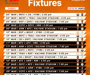 2nd phase of I-League to start on March 5