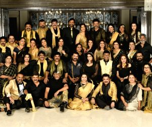 80's Stars 10th Anniversary Party held at Chiranjeevi Residence