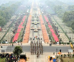 Republic day 2018 - Bird's eye view of Rajpath