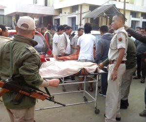 Manipur Home Minister visits bomb blast site