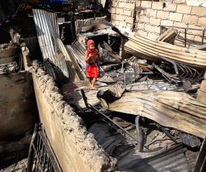 PHILIPPINES MANDALUYONG CITY SLUM FIRE AFTERMATH