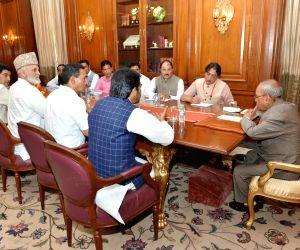 National Conference, Congress delegation calls on President Mukherjee