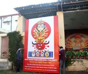 Durga Puja pandal comes up on the theme of 'Coronasur Badh