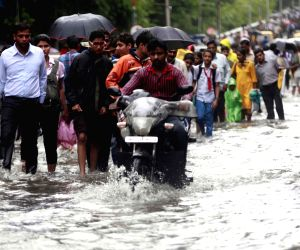 Flooded streets of Mumbai
