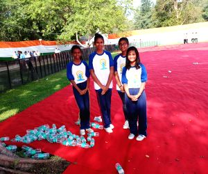 Kids turn Yoga Day into Clean India day