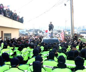 Anti-Pyongyang rally at PyeongChang Olympics